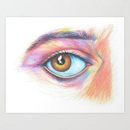 eye see in color Art Print