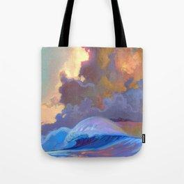 Sunset surf break Tote Bag