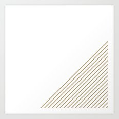 Tan & White Stripes  Art Print