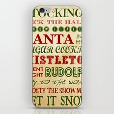 Subway Style Christmas Words iPhone & iPod Skin
