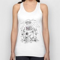 dad Tank Tops featuring Space Dad by Michael Byers