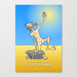 St Antony takes a selfie, desert scene Canvas Print