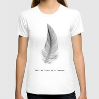 xbox T-shirts featuring Feel as light as a feather by eARTh