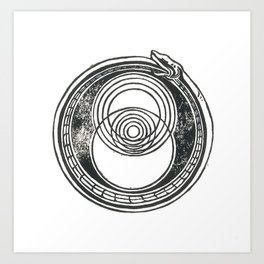 Space-Time Atom Art Print