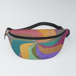 Pinwheel Grungy Abstract Design Fanny Pack