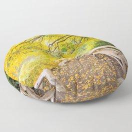Autumn Bench Meadow Floor Pillow