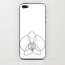 One-Line Orchid iPhone Skin