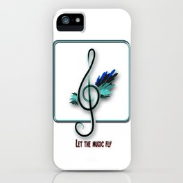 Let the music fly iPhone Case