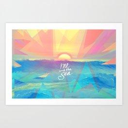 Me and the Sea Art Print