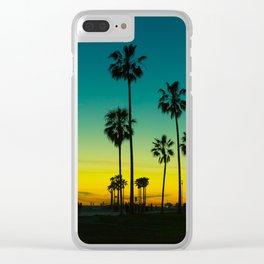 venice california at dusk Clear iPhone Case