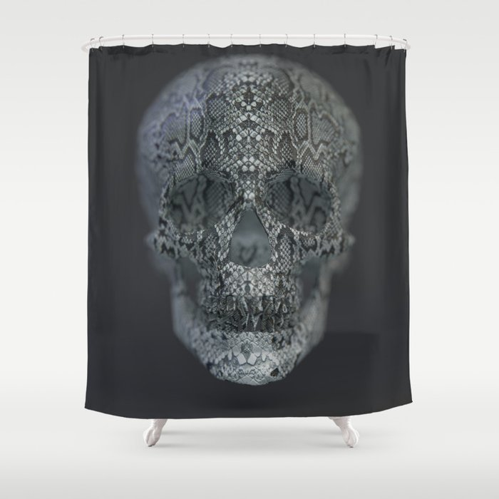 Snake Skull Shower Curtain