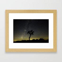 Milky Way at Joshua Tree Framed Art Print