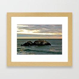 Seagull Rock Framed Art Print