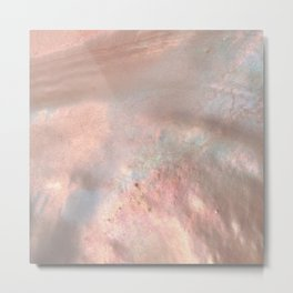 Coral Holographic Metal Print