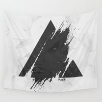 deadmau5 Wall Tapestries featuring PLACE Triangle by Sitchko Igor