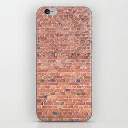Plain Old Orange Red London Brick Wall iPhone Skin