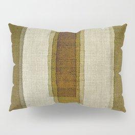 """Burlap Texture Greenery Columns"" Pillow Sham"