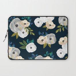 Midnight Florals - Blue & Cream Laptop Sleeve