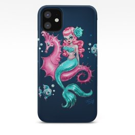 Mysterious Mermaid on Deep Blue iPhone Case