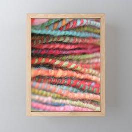 Handspun Yarn Color Pattern by robayre Framed Mini Art Print
