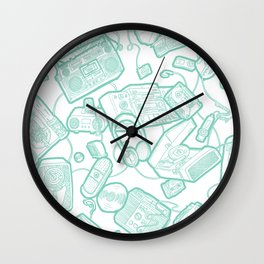 Audiophile Graveyard Wall Clock
