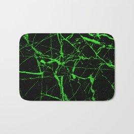 Green Marble - Green, textured, abstract pattern Bath Mat
