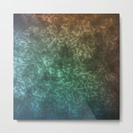 Geometric pattern with triangles Metal Print