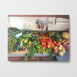 All of the Produce Metal Print