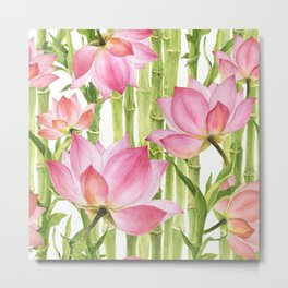 Tropical floral pattern #2 Metal Print