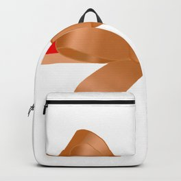 Gift Ribbons / Bronze Gold Ribbon Red and Gold Stripe  Backpack