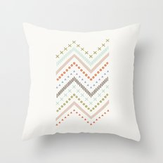 Mixed Zig Zag - in Mint Throw Pillow