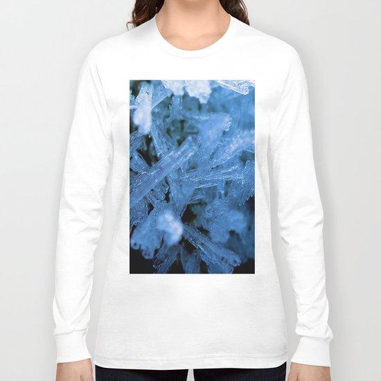 Ice Crystals Macro Long Sleeve T-shirt