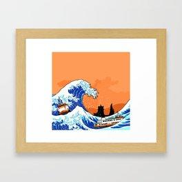 Big wave Lisbon Framed Art Print