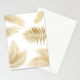 Golden Palm Leaves Stationery Cards