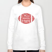 ohio state Long Sleeve T-shirts featuring Ohio State Football by Kasi Turpin