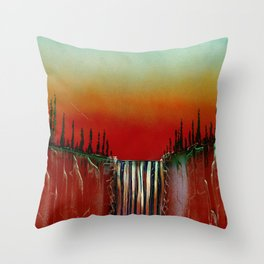 Cascade in Cantaloupe Colors Throw Pillow