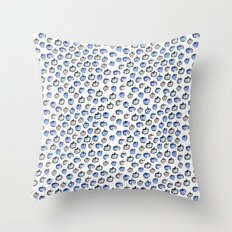 Blue and Grey Apples Throw Pillow