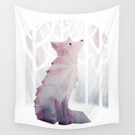 Fox in the Snow Wall Tapestry