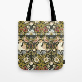 Whippets and Strawberry Thieves Tote Bag