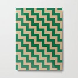 Tan Brown and Cadmium Green Steps LTR Metal Print