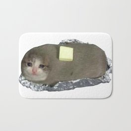 Crying Cat Baked Potato With Butter Bath Mat