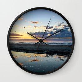 Sunrise over Folly Beach Wall Clock