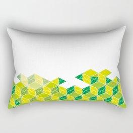 Green Isometric Pattern Rectangular Pillow