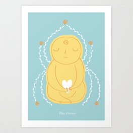 Love and peace Art Print
