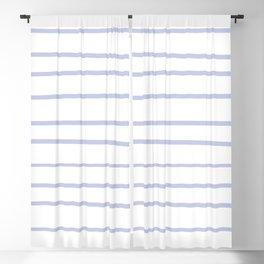 Illuminated Violet - Twilight Mist - Carousel Purple Hand Drawn Horizontal Lines on White Blackout Curtain