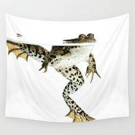 frog surfacing Wall Tapestry