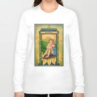 amy pond Long Sleeve T-shirts featuring Amy Pond Art Nouveau by rointheta