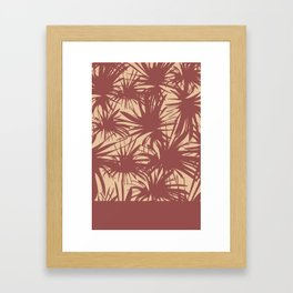 Marsala Palms  Framed Art Print