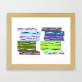 Parallel Intersection Framed Art Print