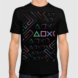 Playstation Buttons Maze Lines T-shirt